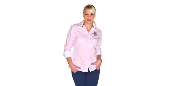 Dámska svetlo ružová košeľa M. Conte