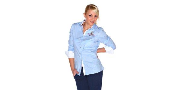 Dámska svetlo modrá košeľa M. Conte
