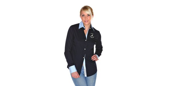 Dámska tmavo modrá košeľa M. Conte