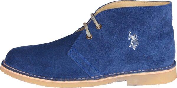 Pánske svetlo modré semišové topánky U.S. Polo
