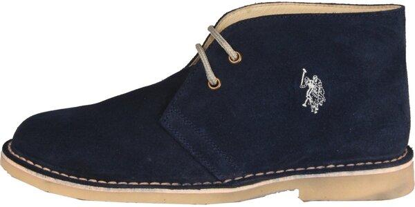 Pánske tmavo modré semišové topánky U.S. Polo