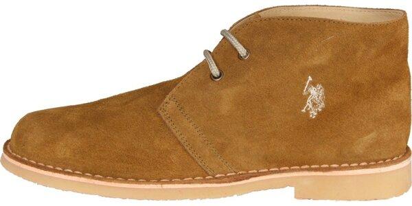 Pánske khaki semišové topánky U.S. Polo