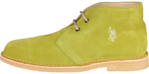 Pánske limetkové semišové topánky U.S. Polo