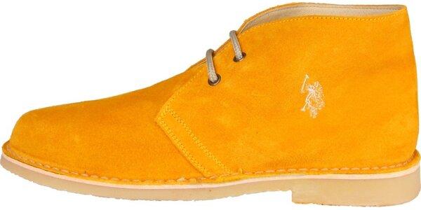 Pánske oranžové semišové topánky U.S. Polo