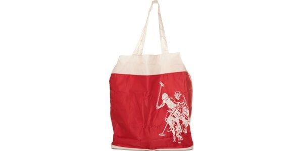 Dámska červená skladacia taška U.S. Polo