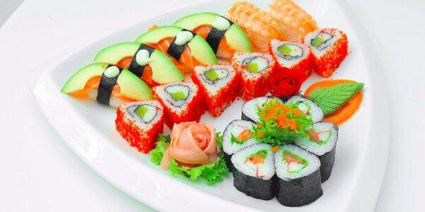 Sushi menu v Sushi bare Sunshine v Auparku