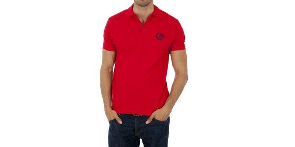Pánske červené polo Polo Club s výšivkou