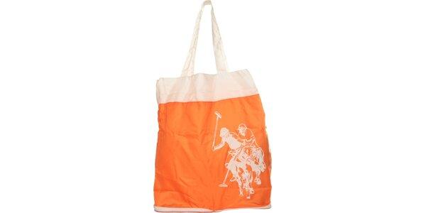 Dámska oranžová skladacia taška U.S. Polo