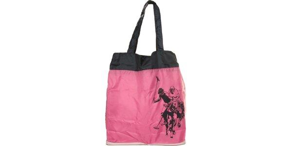 Dámska ružová skladacia taška U.S. Polo