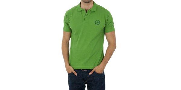 Pánske svetlo zelené polo Polo Club s výšivkou
