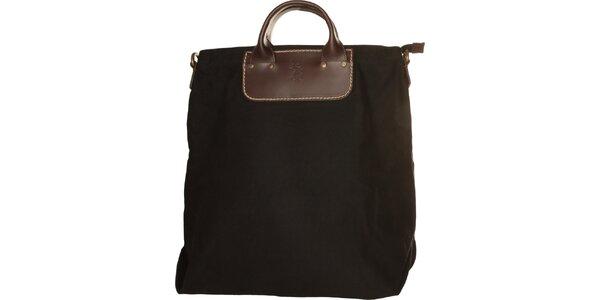 Dámska čierna textilná kabelka U.S. Polo