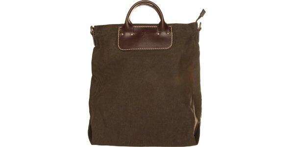 Dámska olivovo zelená textilná kabelka U.S. Polo