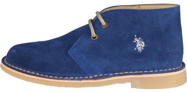 Dámske sýto modré semišové topánky U.S. Polo