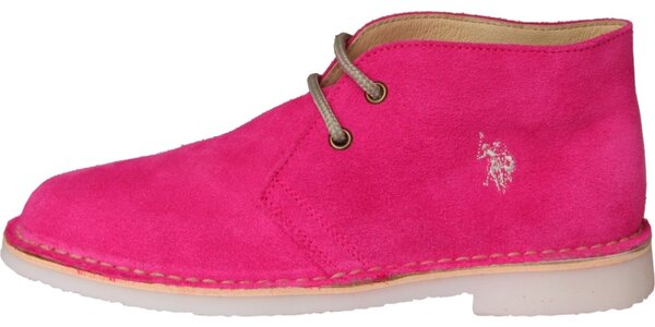 Dámske fuchsiové semišové topánky U.S. Polo