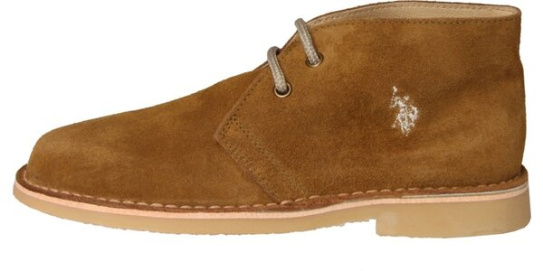 Dámske khaki semišové topánky U.S. Polo