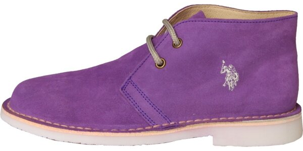 6767fbe16984 Dámske fialové semišové topánky U.S. Polo