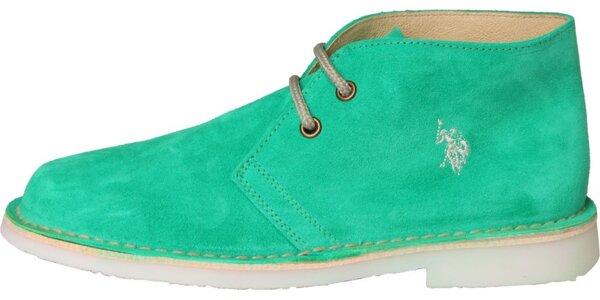 07b055aa5ac2 Dámske mentolové semišové topánky U.S. Polo