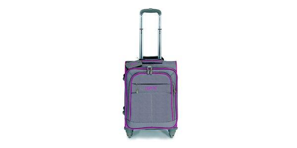 Béžovo-ružový malý kufor na kolieskach Esprit
