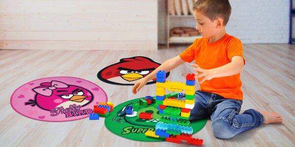 Detské koberce s motívmi Angry Birds