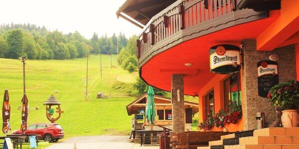 Letný rodinný pobyt pre dve osoby na Kysuciach