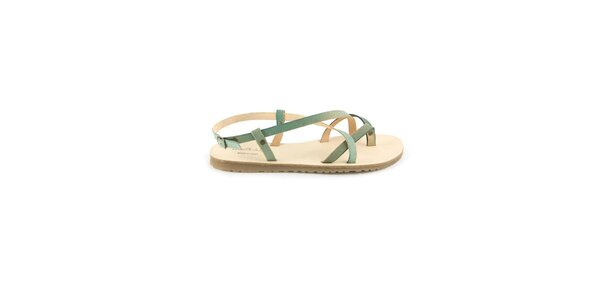Dámske pastelovo modré kožené sandále Pelledoca