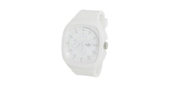 Športové biele silikónové hodinky Adidas