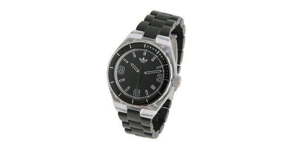 Dámské čierne hodinky Adidas s transparentnými detailami