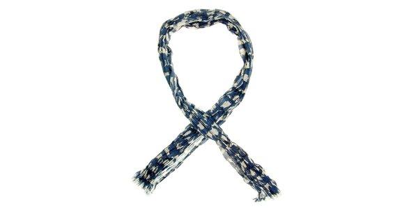 Dámska modrá šatka so vzorom sušeného prádla Nice Things