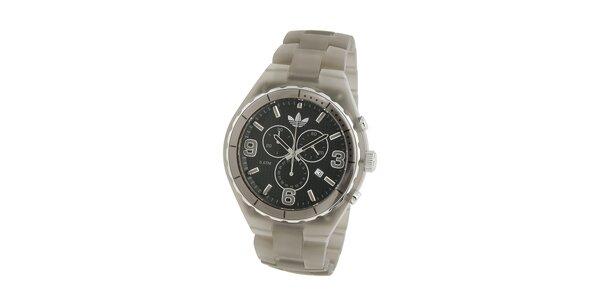 Pánské tmavo šedé transparentné hodinky Adiidas