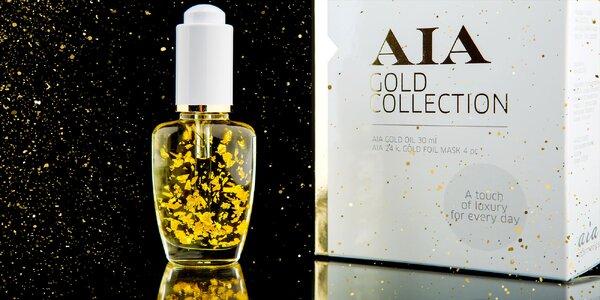Masážny a pleťový olej z 24-karátového zlata