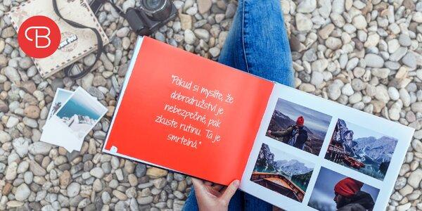 Vytvorte si fotoknihu z vašej dovolenky, šitá knižná väzba