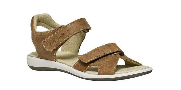 Dámske biele sandále so suchými zipsami TBS