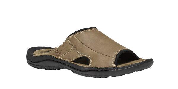 Pánske svetlo hnedé papuče TBS
