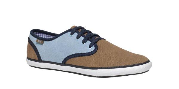 Pánske modro-hnedé topánky TBS