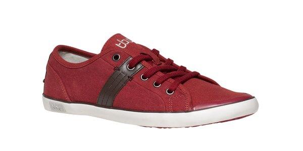 Pánske červené textilné tenisky TBS