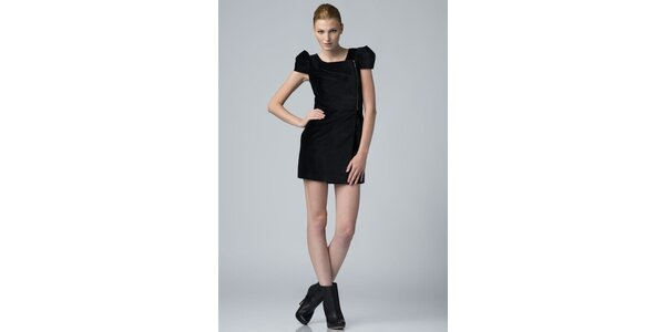 Dámske čierne zamatové šaty Eleven Paris