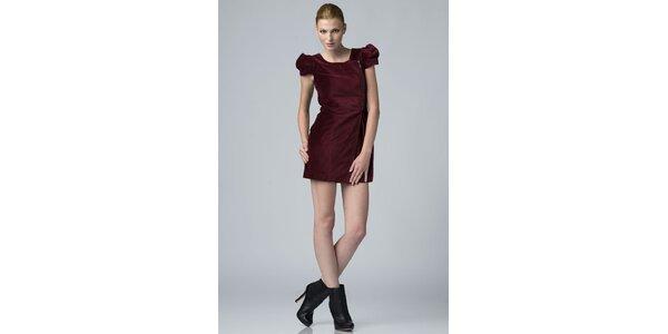 Dámske vínové zamatové šaty Eleven Paris