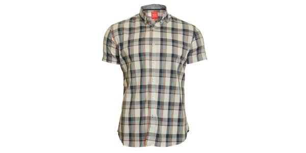 Pánska šedo-zelená kockovaná košeľa Chaser