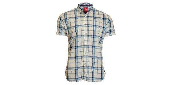 Pánska bielo-modrá kockovaná košeľa Chaser