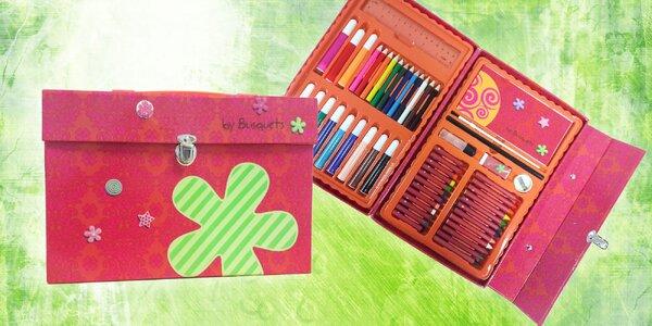 Výtvarný kufrík s príslušenstvom pre deti