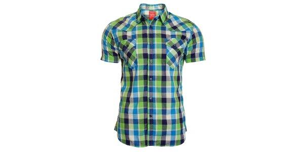Pánska modro-zelená kockovaná košeľa Chaser