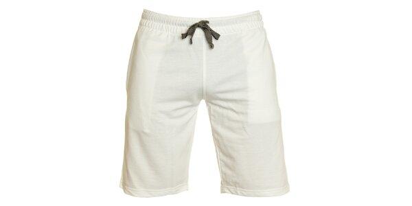 Pánske biele športové bermudy Chaser