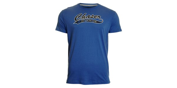 Pánske modré tričko Chaser s potlačou