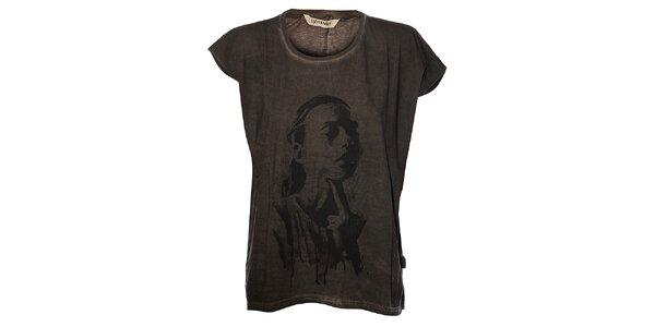 Dámske antarcitové tričko Eleven Paris s potlačou