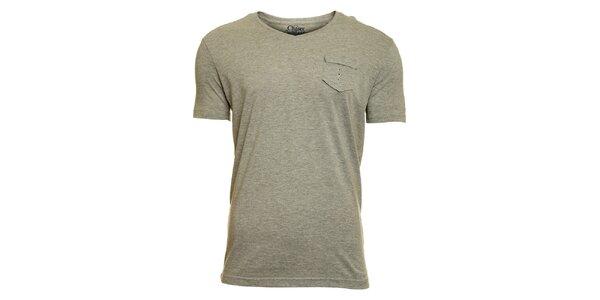 Pánske svetlo šedé tričko Chaser