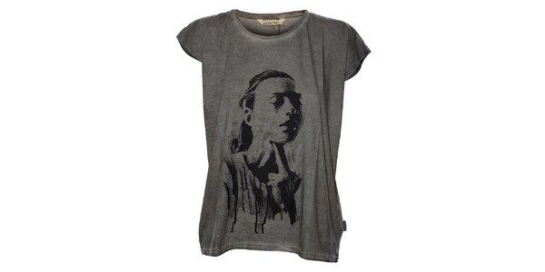 Dámske svetlo šedé tričko Eleven Paris s potlačou