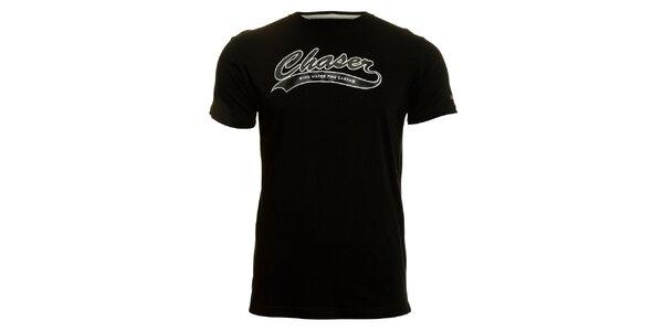 Pánske čierne tričko Chaser s potlačou
