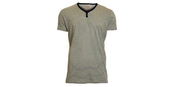 Pánske šedé pruhované tričko Chaser
