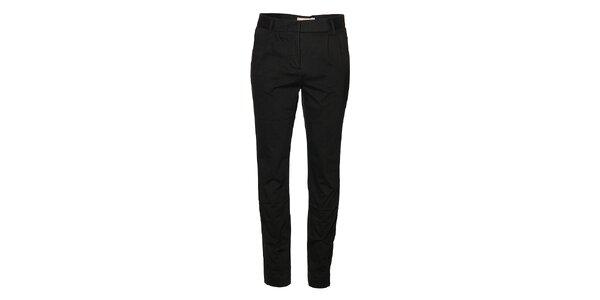 Dámske čierne naberané nohavice Eleven Paris