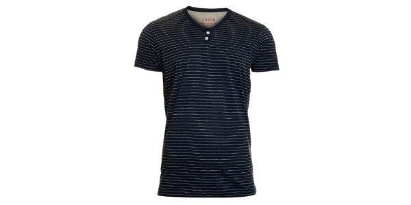 Pánske modro-šedé pruhované tričko Chaser
